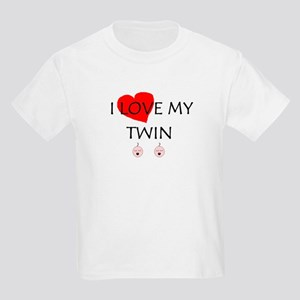I LOVE MY TWIN Kids T-Shirt